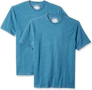 Amazon Essentials Men's 2-Pack Slim-Fit Short-Sleeve Crewneck Pocket T-Shirt 2