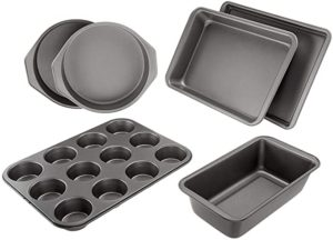 AmazonBasics 6-Piece Nonstick Oven Bakeware Baking Set 2