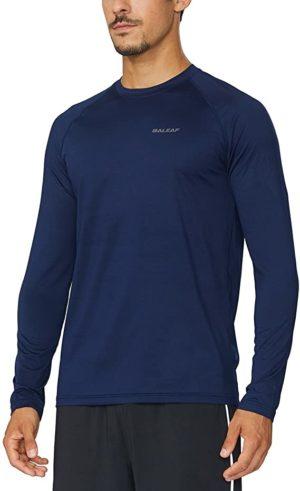 BALEAF Men's Long Sleeve Running Shirts Athletic Workout T-Shirts 4