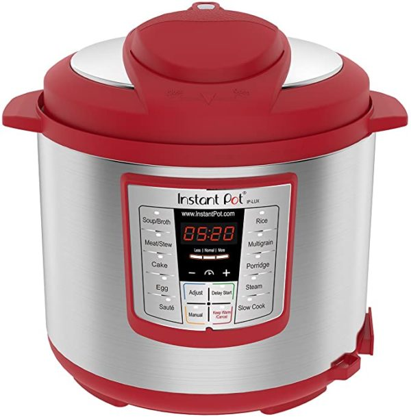 Instant Pot Lux 6-in-1 Electric Pressure Cooker, Slow Cooker, Rice Cooker, Steamer, Saute, and Warmer 6 Quart Red 12 One-Touch Programs 4