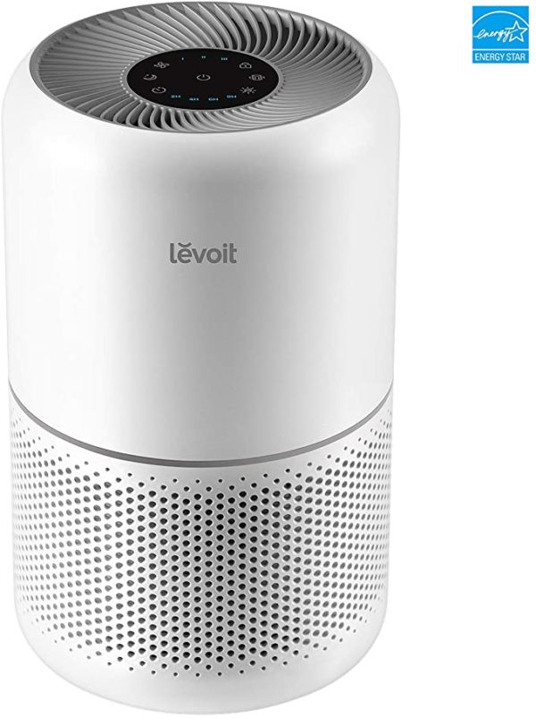 LEVOIT Air Purifier for Home Allergies Pets Hair Smokers in Bedroom, H13 True HEPA Air Purifiers Filter, 24db Quiet Air Cleaner, Remove 99.97% Smoke Dust Mold Pollen for Large Room, Core 300, White 4