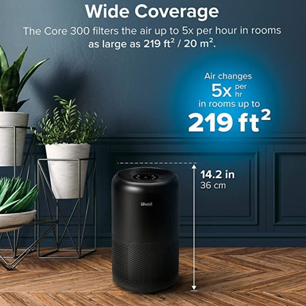 LEVOIT Air Purifier for Home Allergies Pets Hair Smokers in Bedroom, H13 True HEPA Air Purifiers Filter, 24db Quiet Air Cleaner, Remove 99.97% Smoke Dust Mold Pollen for Large Room, Core 300, White 7