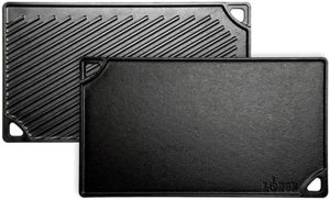 Lodge Pre-Seasoned Cast Iron Reversible Grill/Griddle, 16.75 Inch x 9.5 Inch, Black 5