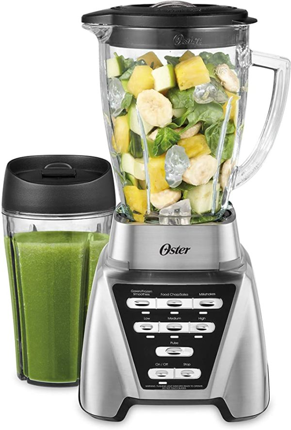 Oster Blender   Pro 1200 with Glass Jar, 24-Ounce Smoothie Cup, Brushed Nickel 4