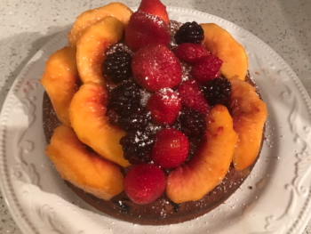 Olive Oil Cake with Fresh Fruits