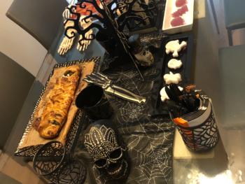 "Halloween ""Mummy"" Salmon Spinach Puff Pastry 6"
