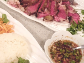 Thai Crying Tiger Steak with Jeaw dipping sauce