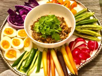 Tantalizing Thai Mushroom dip with vegetables 2