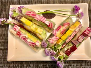 How to rock Fresh Vegetarian Summer Rolls