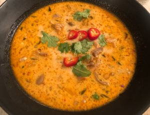 The most enticing Thai Coconut Chicken Soup - Tom Kha Gai - ever! 5